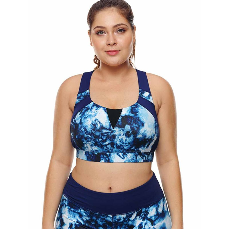 Womens Plus Size Free Wire Full Cup Sports Bra
