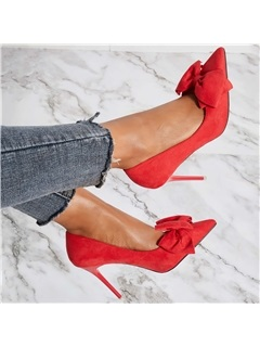 Stiletto Heel Pointed Toe Slip-On Banquet Women's Pumps 2