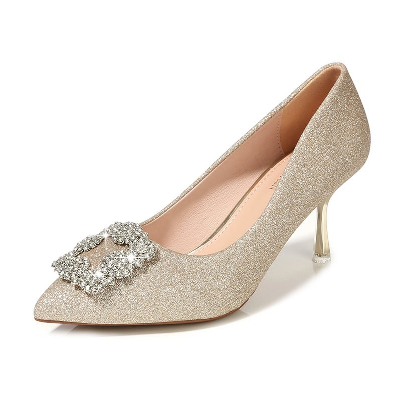 Sequin High Heel PU Thin Shoes Wedding Shoes