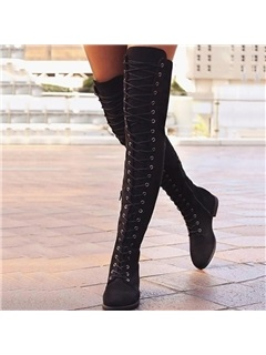 Round Toe Plain Side Zipper Vintage Otk Boots 17