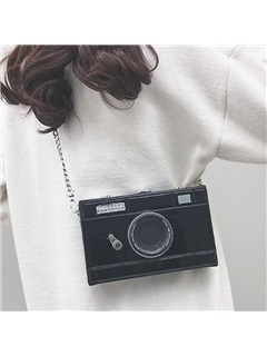 Thread PU Flap Camera Model Crossbody Bag