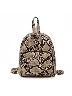 PU Thread Serpentine Backpack