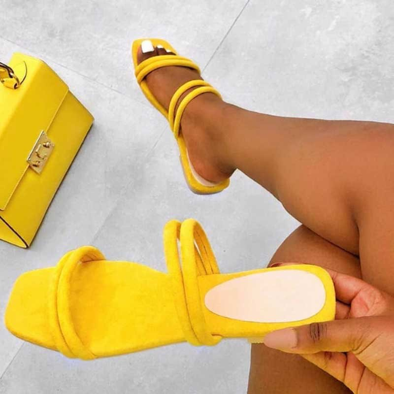 Slip-On Candy Color Womens Sandals