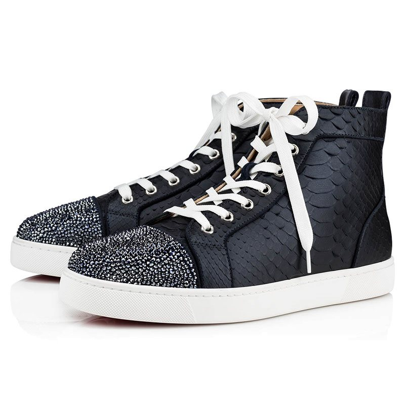 High Top Lace-Up Round Toe Chic Mens Skate Shoes