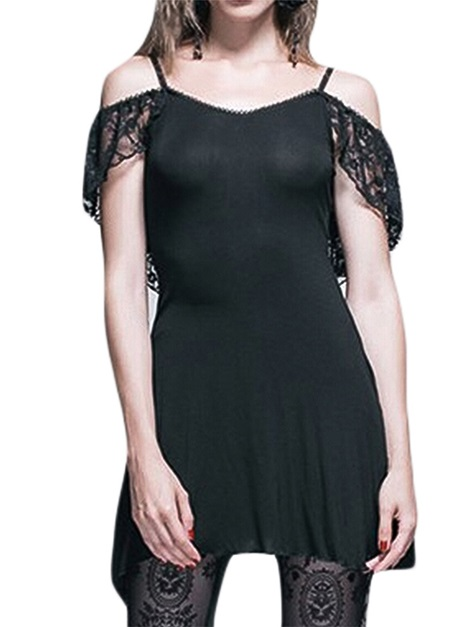Halloween Costume Above Knee Lace Short Sleeve Summer Trumpet Women's Dress
