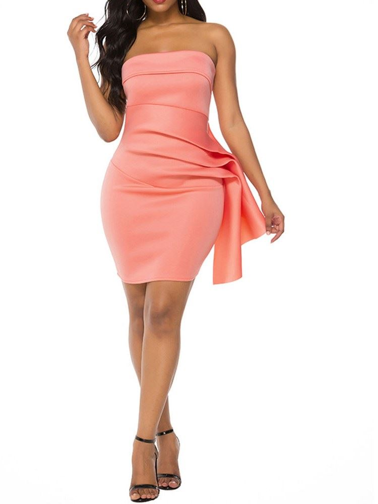 Pleated Sleeveless Above Knee Party/Cocktail Summer Womens Dress