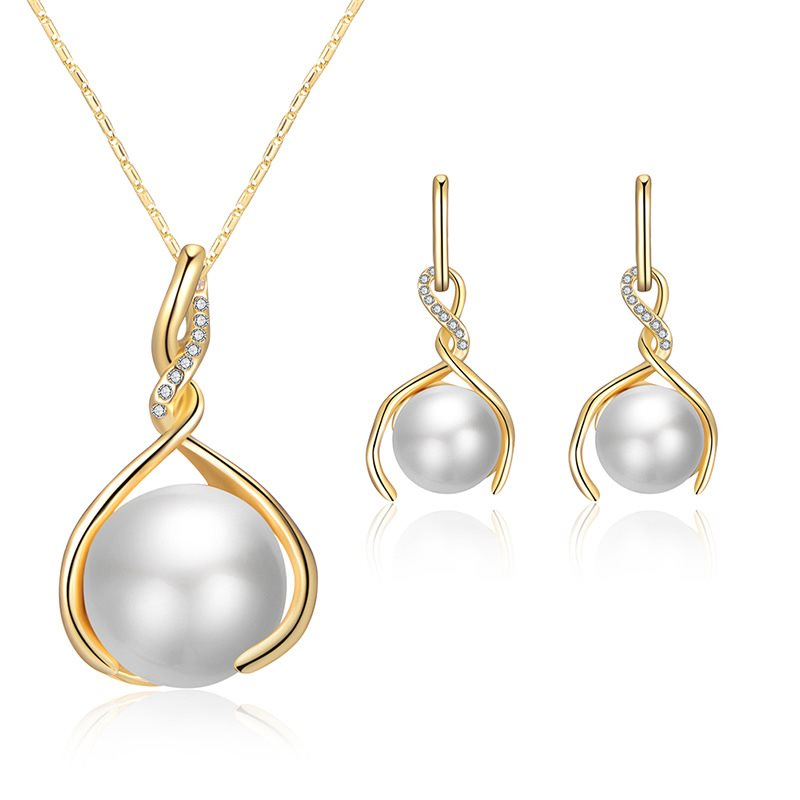 Spherical E-Plating Korean Jewelry Sets (Wedding)