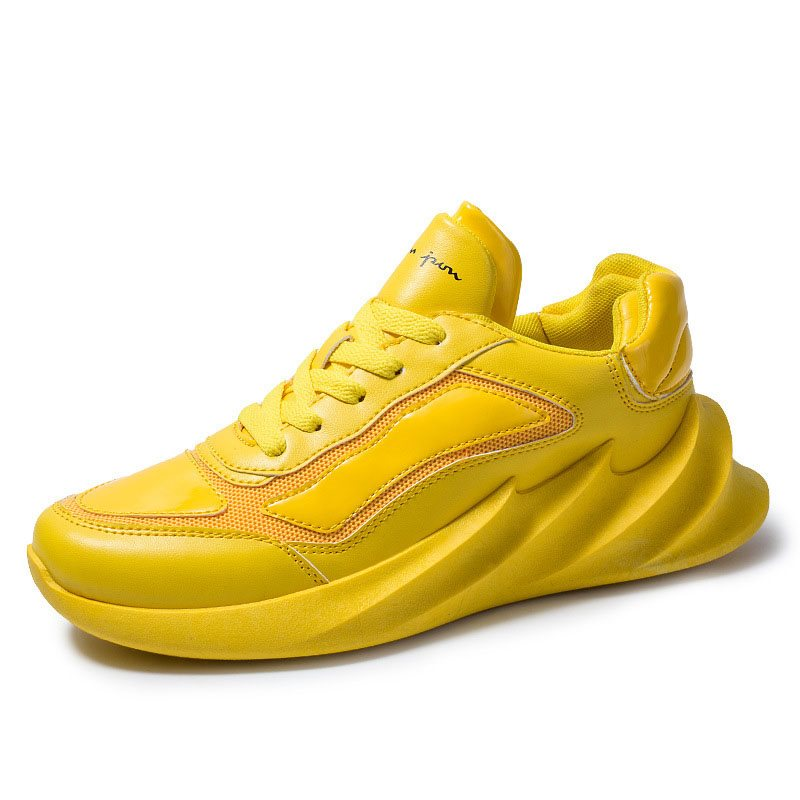 Sports Lace-Up Round Toe Colorful Mens Sneakers
