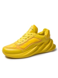 Sports Lace-Up Round Toe Colorful Men's Sneakers