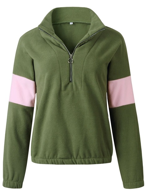 Zipper Long Sleeve Standard Women's Hoodie