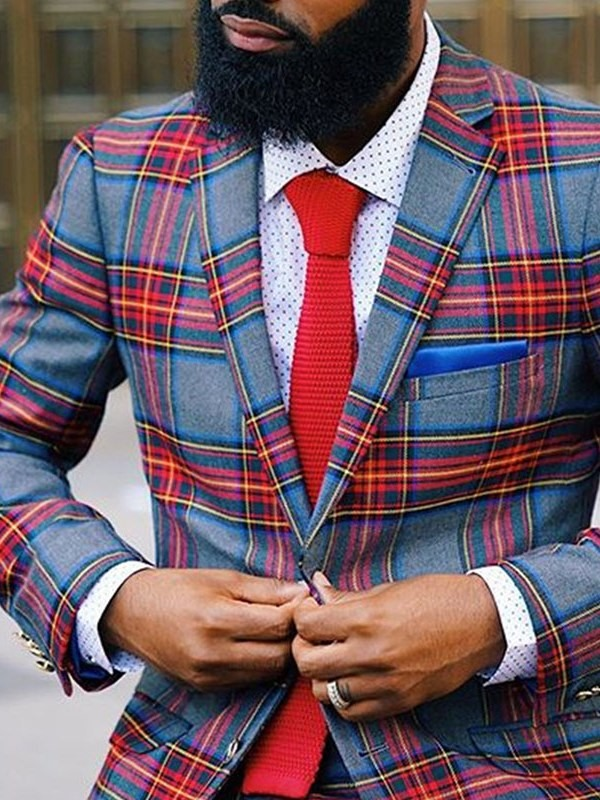 Casual Style Single-Breasted Color Block Mens Leisure Blazers