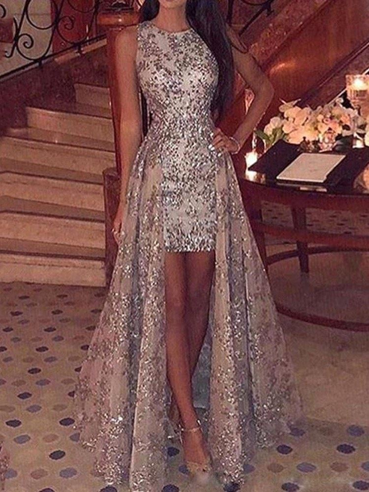 Floor-Length Sequins Sleeveless Party/Cocktail A-Line Womens Dress
