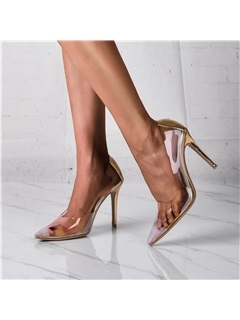 Slip-On Pointed Toe See Through Women's Pumps