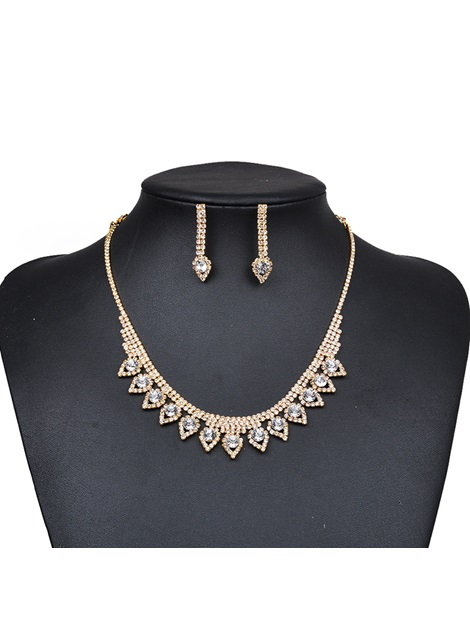 Diamante Necklace Romantic Gift Jewelry Sets