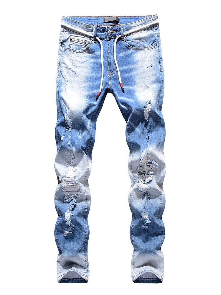 Hole Casual Mens Jeans