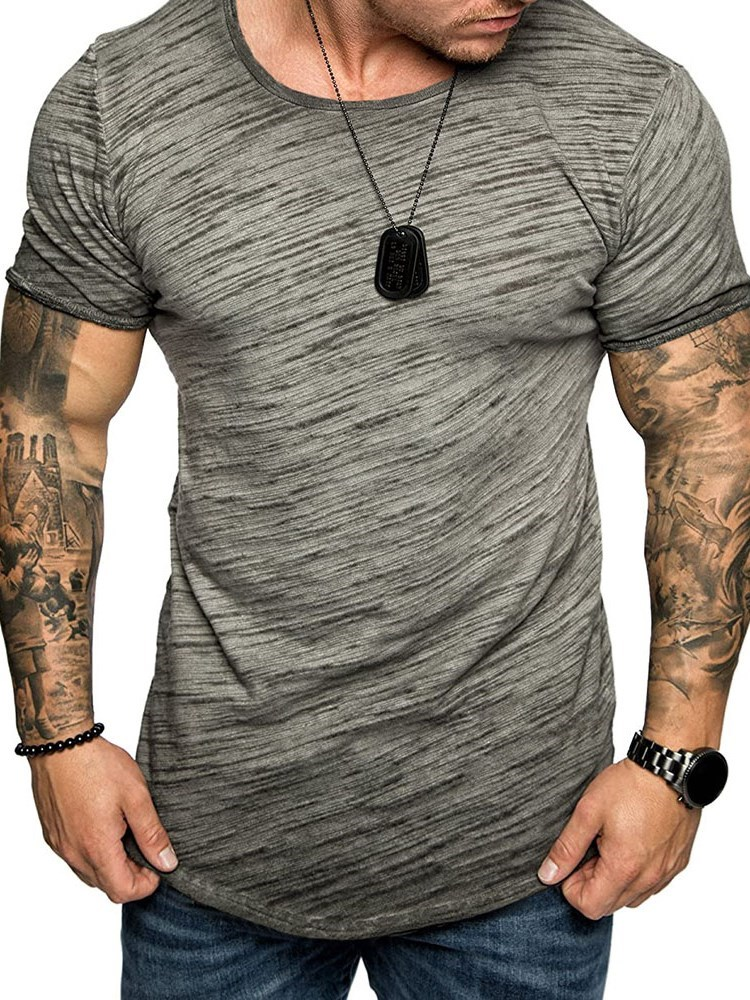 Round Neck Short Sleeve Mens T-shirt фото
