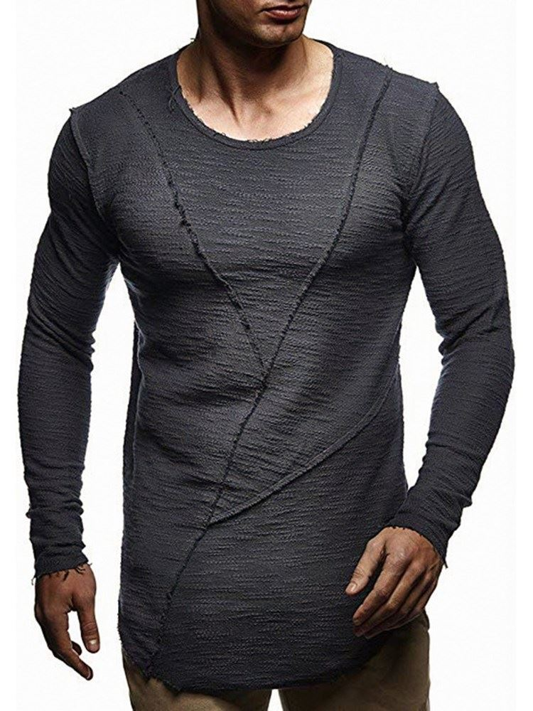 Casual Round Neck Pullover Mens T-shirt фото