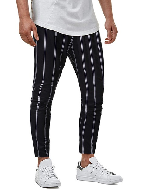 Pencil Pants Stripe Summer Men's Casual Pants