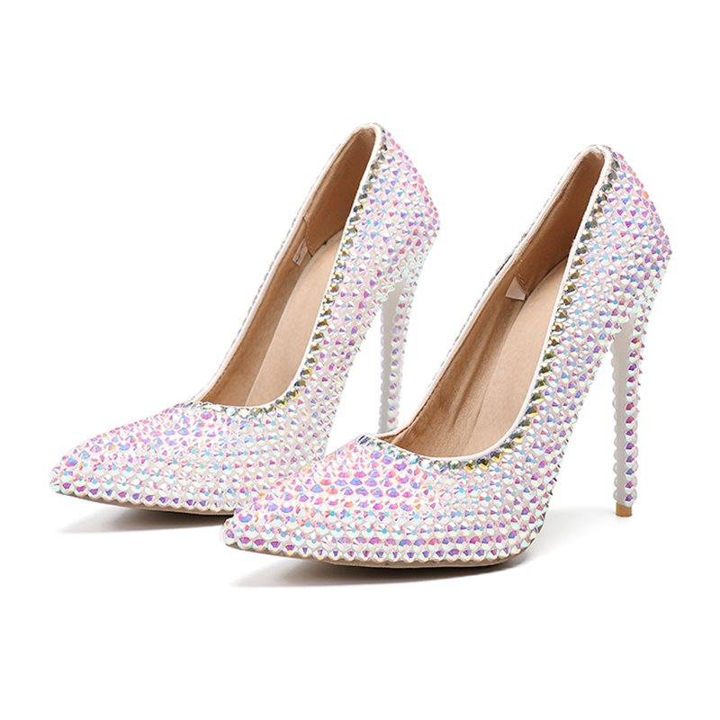 Stiletto Heel Slip-On Pointed Toe Banquet Thin Shoes