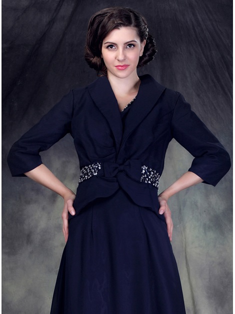 3/4 Sleeve Jacket with Bowknot