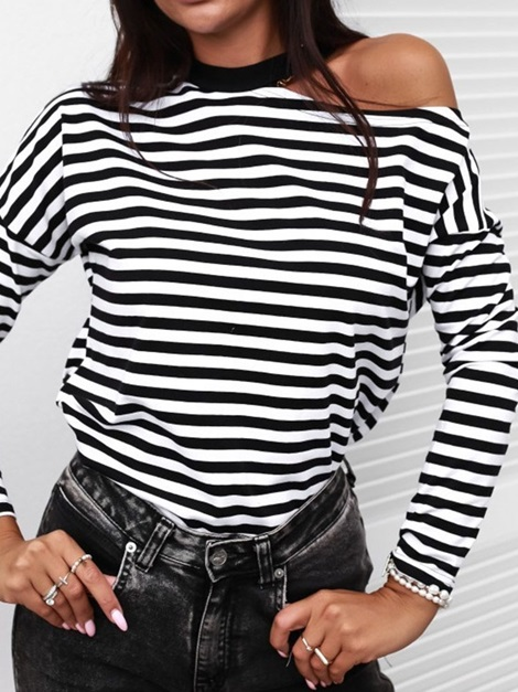 Long Sleeve Standard Round Neck Casual Loose Women's T-Shirt