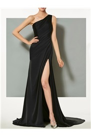 Sleeveless Trumpet Mermaid Floor-Length Black Cocktail Dress