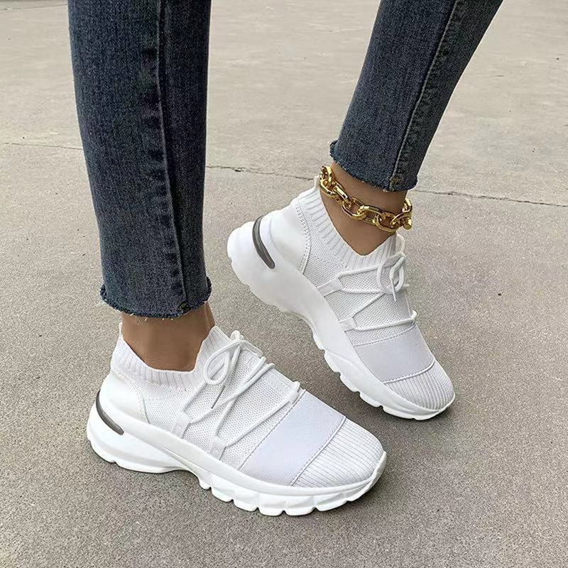 Mid-Cut Upper Round Toe Cross Strap Casual Sneakers