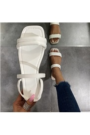 Flat With Open Toe Slip-On Casual Sandals