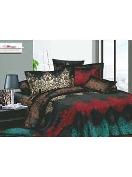 Magnificent Unique Pattern Active Printed 4 Piece Cotton Bedding Sets