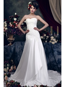 Gorgeous A Line Lace Sleeveless Cathedral Train Talines Wedding Dress