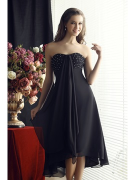 Cool Sweetheart Beading Ruffles A Line Asymmertrical Sandras Bridesmaid Dress