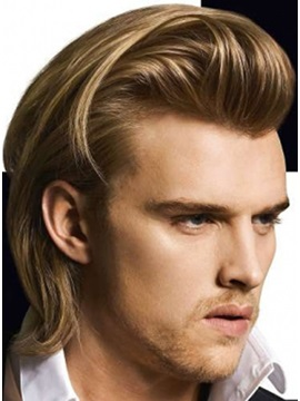 Dapper Short Rocker Hair Style Short Straight Full Lace Wig Human Hair Mans Best Choice 10 Inches
