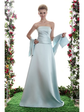 A Line Strapless Floor Length Yanas Prom Bridesmaid Dress With Jacket Shawl