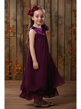 Amazing A Line Scoop Knee Length Flower Girl Dress