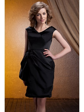 Graceful Pick Ups A Line Knee Length V Neck Mother Of The Braide Dress