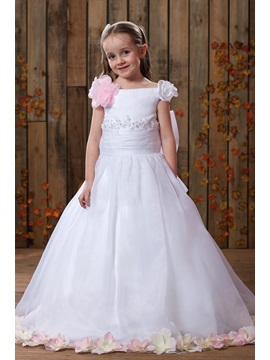 Lovey A Line Floor Length Off The Shoulder Flower Girl Dress