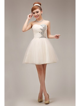 Lovely Mini Length A Line Sweetheart Beaded Lace Up Homecoming Dress