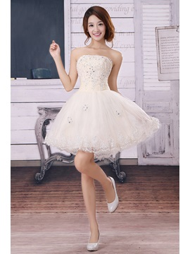 Amazing A Line Short Appliques Sequins Lace Sweet 16 Dress
