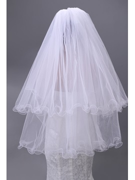 Enchanting Two Layers Elbow Wedding Brail Veil
