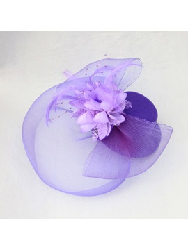 Violet Gauze Hair Flowers