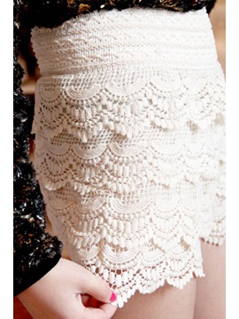 Stunning Japanese Style Laciness Lace Layered Shorts