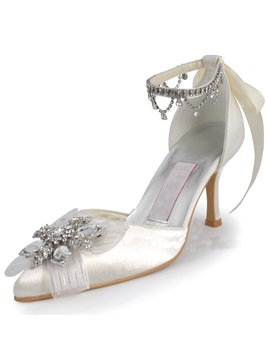 Diamonds Satin Wedding Shoes
