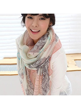 Best Quality New Iron Tower Print Shawl Scarf