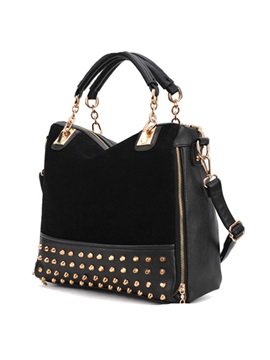 Fashion Rivet Korean Style Leather Womens Satchel