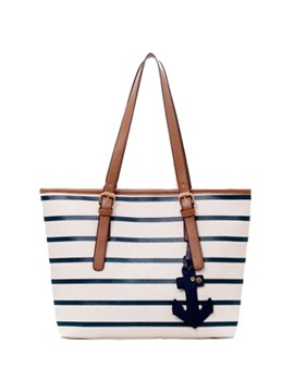 Splendid Preppy Striped Navy Style Casual Handy Womens Tote Bag