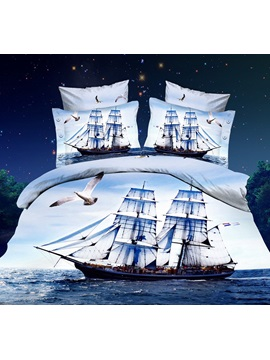 Brilliant Sailing 4 Piece Cotton Bedding Sets