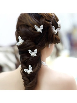 2014 New Gorgeous Butterfly Shape Bride Headwear For One Piece