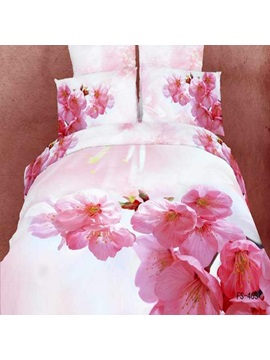 4 Piece Pink Cotton Bedding Sets