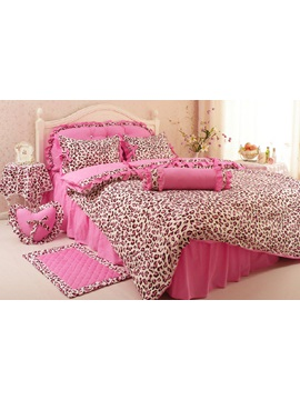 Nice Pink Cotton 4 Piece Bedding Set