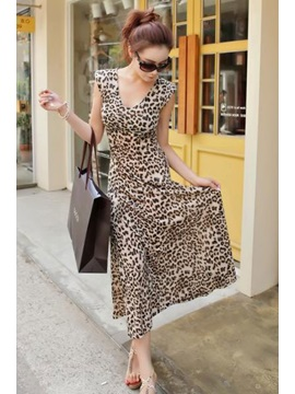 Gorgeous Leopard Print Sleeveless Dress